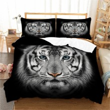 3D Black Tiger Bedding Set Animal print Duvet Cover With Pillowcase Twin Queen King Size head Bed 3pcs Bedclothes