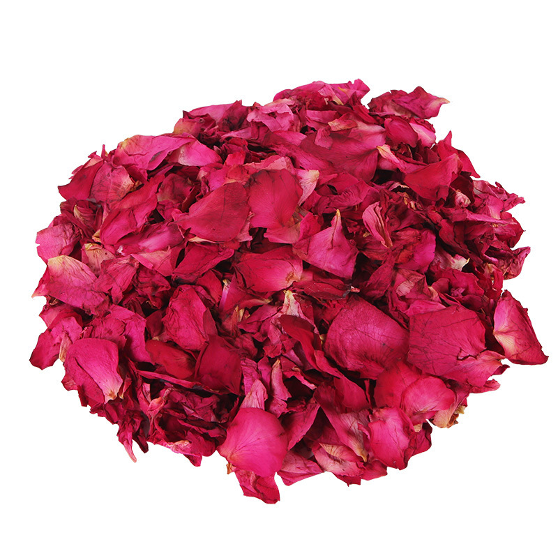 Romantic 50g Natural Dried Rose Petals Bath Dry Flower Petal Spa Whitening Shower Aromatherapy Foot Bathing Supply