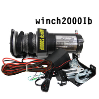 Winch car modified electric winch 2000/3000/4000lb12v12m fiber rope beach car winch for beach off road vehicle marine lift self|Towing & Hauling| |  -