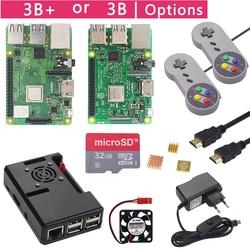 Raspberry Pi 3 Model B + Plus Game Starter Kit + 16G 32G Sd-kaart + Gamepad + case + Fan + Power + Koellichaam + HDMI Kabel voor RetroPie