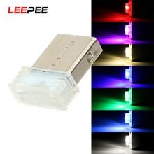 LEEPEE, мини USB, декоративная лампа, Автомобильный светодиодный, атмосферное освещение, аварийное освещение, автомобильный стиль, авто, внутреннее освещение, лампа окружающей среды