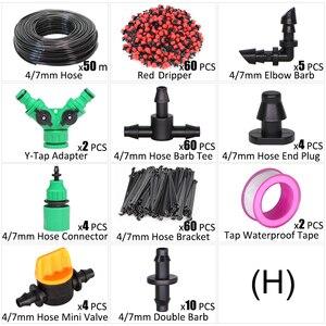 Image 5 - 5 50m Micro Irrigazione a goccia Irrigazione Kit 8 Foro Regolabile Flusso Dripper Atomizzatore Giardino 4/7 millimetri A Spruzzo tubo Di Nebbia Sistema Di Raffreddamento