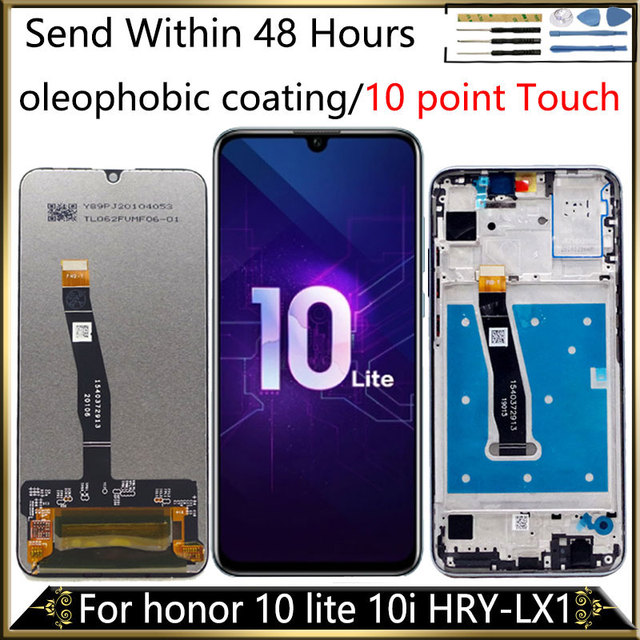 オリジナル名誉 10 liteディスプレイhuawei社の名誉 10 私はディスプレイのタッチスクリーンフレームHRY LX2 HRY AL00 HRY LX1 10 ポイント