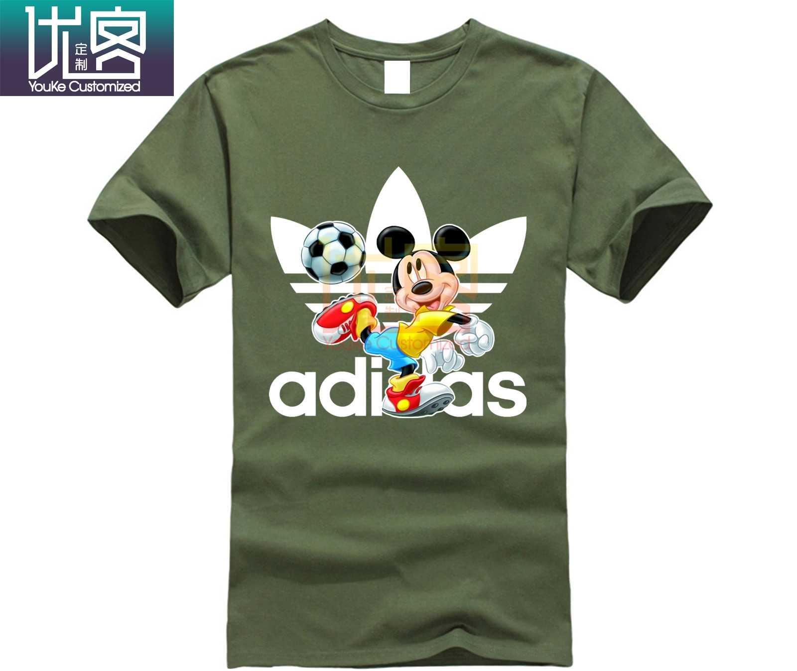 Мужские летние футбольные футболки с логотипом Микки дисна, красивые футболки с принтом Микки для мужчин
