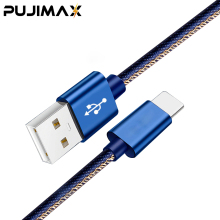 PUJIMAX 2.4A Denim USB Cable for iphone X XS XR Fast Charging Sync Data Cord For iPad mini 2/mini 3/mini 4 8 charging cable