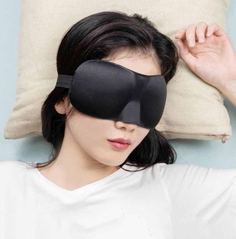1 Chiếc 3D Ngủ Tự Nhiên Mặt Nạ Ngủ Eyeshade Che Mắt Miếng Dán Nam Nữ Mềm Mại Di Động Bịt Mắt Du Lịch Đệm Mắt giấc Ngủ