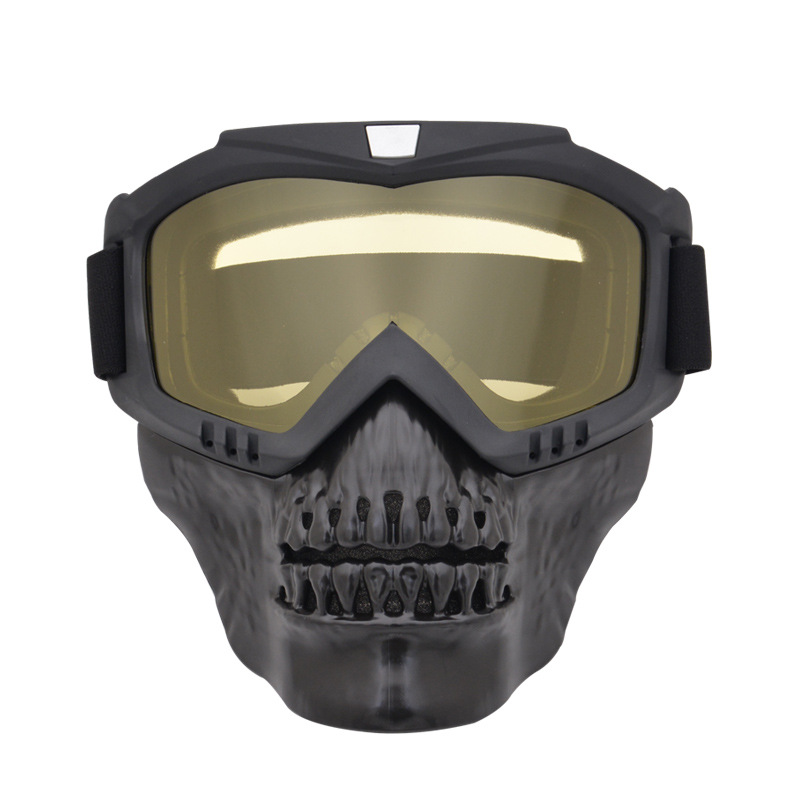 Full Face Paintball CS War Game Skull Mask With Night Vision Goggles Anti-impact Shooting Arisoft Army Military Tactical Mask