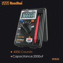 Digital Multimeter Electrical-Tester Counts Voltage-Resistance Ruoshui Capacitance VC921