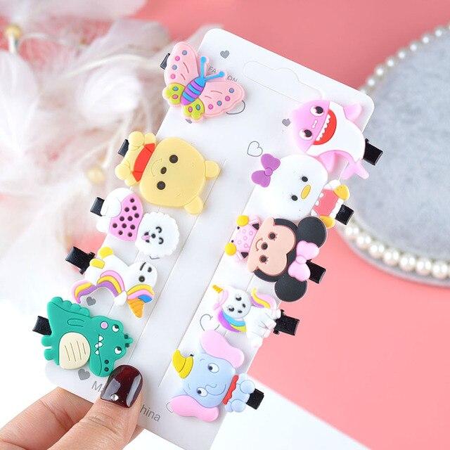 10PCS//Set New Girls Cute Cartoon Ice Cream Hair Clips Kids Lovely HairpinsBSUS