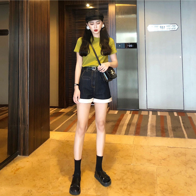 Summer Wear 2019 New Style Online Celebrity Elegant Jeans By Age Two-Piece Set Very Fairy France Non-mainstream Western Style Sl