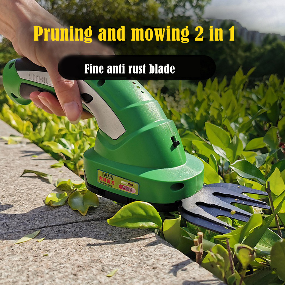 Rechargeable Lawn Mower EU 220V Electric Trimmer Cutting Flower Lawn Mower Hedge Trimmer Fence Scissors Weeder Gardening Tools
