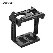 Andoer-jaula de montaje de cámara de aluminio y Metal, Compatible con Z CAM E2 con soporte de zapata fría, accesorios de disparo de tornillo 1/4