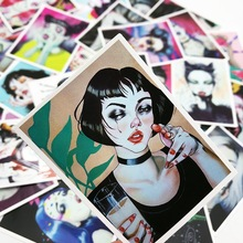 25 Pieces Violent Sexy Girl Stickers for Wall Decor Fridge Motorcycle Bike Laptop Car Stickers Toys