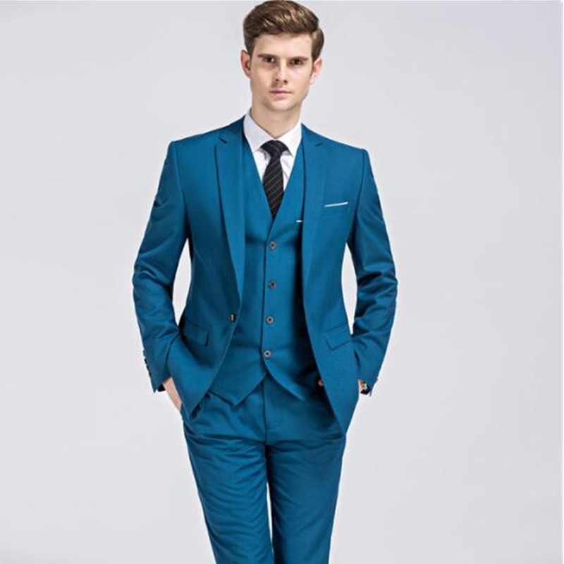 2020 New Arrival Mans Suits For Wedding Prom Dresses Party Suit Dinner Suit Wedding Dress Three Pieces Suit(Jacket+Pants+Vest)