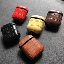 Leather PU Skin Pattern Headphone Case For AirPods Bluetooth Earphone Protective Hard Case For Apple Airpods Wireless Case Cover цена и фото
