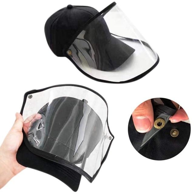 Men And Women Facial Cap Safety Face Shield Full Face Shield Outdoor Anti-fog Anti-saliva Anti-spit Anti-splash