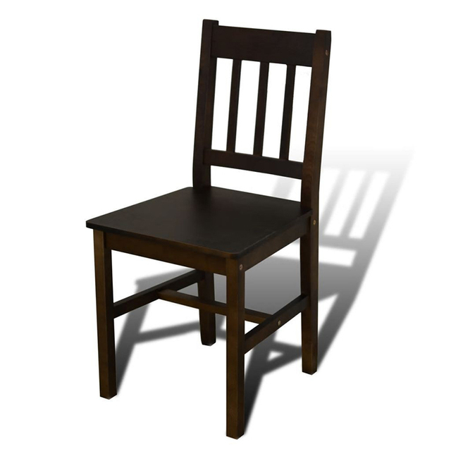 Wooden Dining Table with 4 Chairs 4