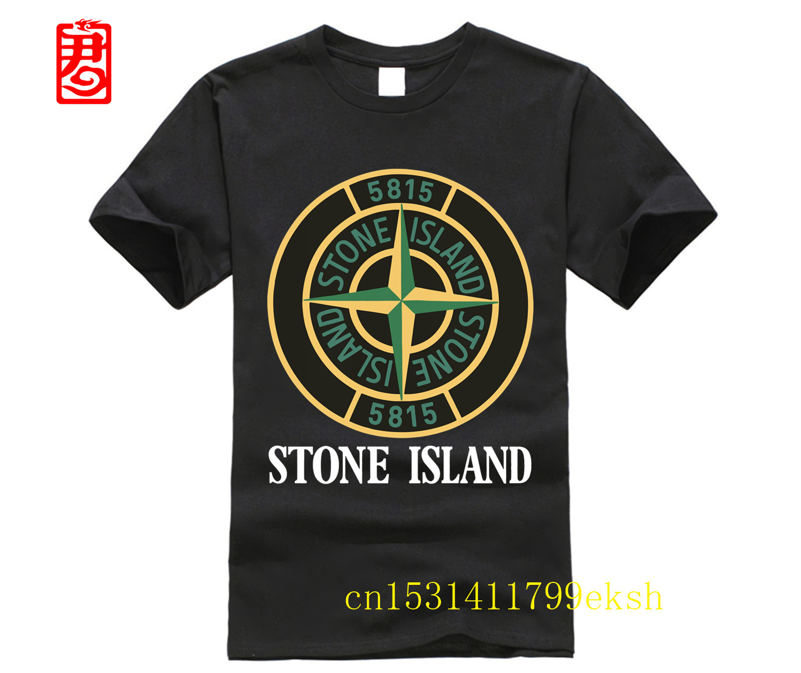 Stone Custom Men White T-Shirt Tee 2020 Fashion T Shirt Cheap Tee 2020 Hot Tees Black Size S-3XL Funny T-shirt Island TEE