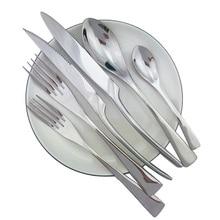 Teaspoon Fork Silverware Creative Dinner Set Mirror Luxury Silver Cutlery 304 Stainless Steel Dinnerware Set Steak Knife Forks