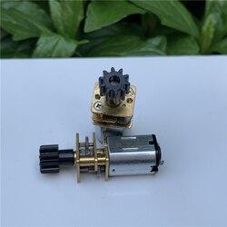 GA12-N20 электродвигатель постоянного тока, Вал D с пластиковым 10-зубчатым редуктором, прецизионный мотор редуктора 3 в 6 в для электронного двер...