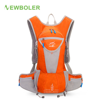 NEWBOLER 18L Cycling Backpack Orange Bicycle Bike Bag with Hydration Outdoor Sports Water Bag Climbing Camping Hiking Backpack