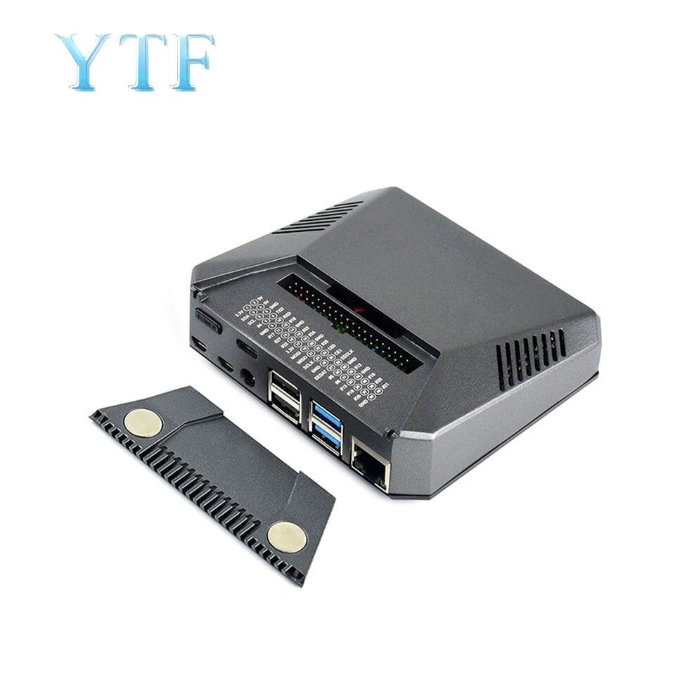 Raspberry Pi 4 B Argon 1 + Nhôm Ốp Lưng Nhà Ở Các Bộ Chuyển Đổi Tấm Làm Mát Quạt +