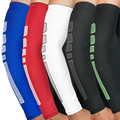 Дышащая быстросохнущая Защита от УФ-лучей  рукава для бега  баскетбол  налокотник  фитнес-нарукавники  спортивные велосипедные рукава  1 шт.