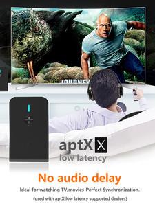 Transmitter-Receiver Speaker Headphone Aptx Low-Latency Audio Car-Tv Wireless-Adapter