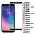 Защитное стекло 99D для Samsung Galaxy A8 A6 J4 J6 Plus 2018 A5 A7 A9 J2 J3 J7 J8 2018, закаленное защитное стекло для экрана
