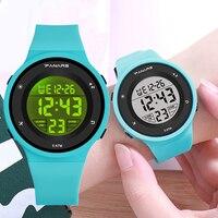 PANARS Kid Digitale Uhren Sport Kinder Wasserdichte LED Bunte Leucht Multifunktionale Jungen Mädchen Student Kunststoff Rosa Uhr-in Kinderuhren aus Uhren bei