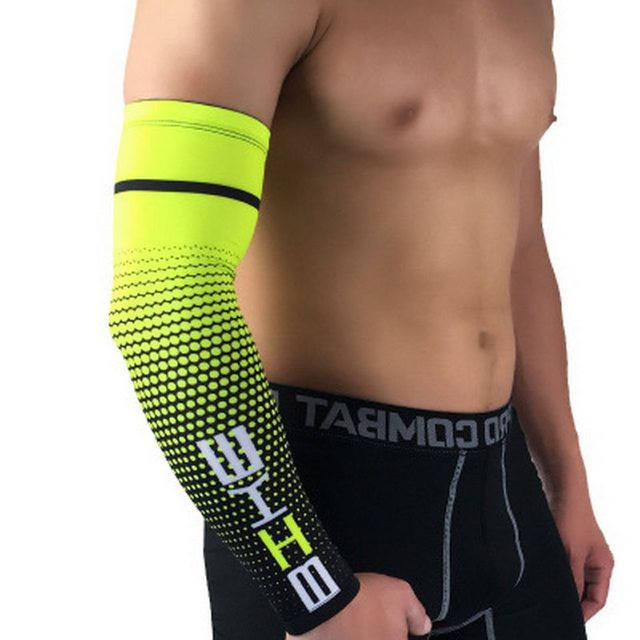 1PCS Cool Men Sport Cycling Running Bicycle UV Sun Protection Cuff Cover Protective Arm Sleeve Bike Arm Warmers Sleeves 5