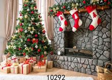 Vinyl Custom Photography Backdrops Prop Christmas day Christmas Tree Theme Photo Studio Background ST-04 free shipping 5ft 7ft 150cm 215cm photography backdrops christmas snow tree bell villa door background