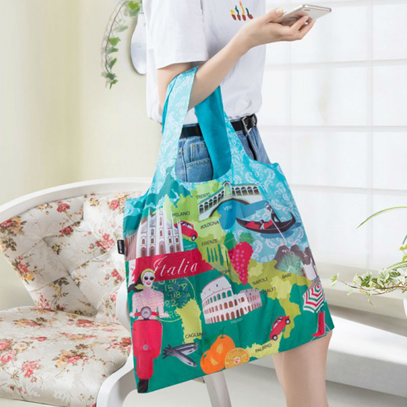 Portable Shopping Shoulder Bag For Women Female Convenient Environmental Protection Travel Folding Storage Bag Shopping Bag