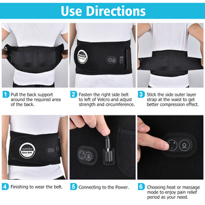 Image 5 - Terapia de calor infrarroja para masaje de cintura, correa de espalda herniada, disco de escoliosis, alivio del dolor de espalda, soporte Lumbar de columna vertebral, masajeador de espalda