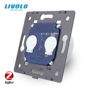 Image 3 - Livoloベースのタッチスクリーンzigbeeスイッチウォールライトスマートスイッチ、ガラスパネルなし、eu標準、ac 220 〜 250v、VL C701Z