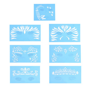 7pcs/set reusable facial paint stencils Airbrush unique stencil in Body Paint Facial Makeup Template Drawing Tattoo Design Tool(China)