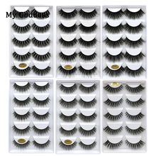 5 pairs eyelashes 3d mink lashes vendors fluffy bulk with packaging full strip wholesale lots