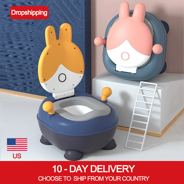 Baby Potty for Toddler Travel Potty with Lid Potty Training Toilet Seat with PU Cushion Double Anti-Slip Design and Splash Guard