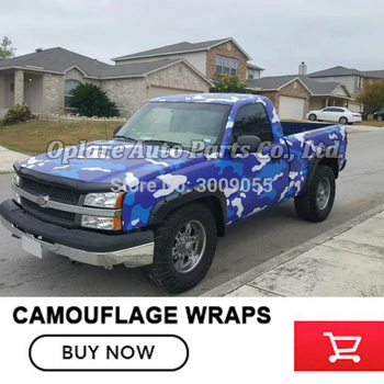 Classic matte blue white Camouflage Vinyl Film Wrap Foil With Air Bubble Free AdhesiveCar Sticker Various sizes