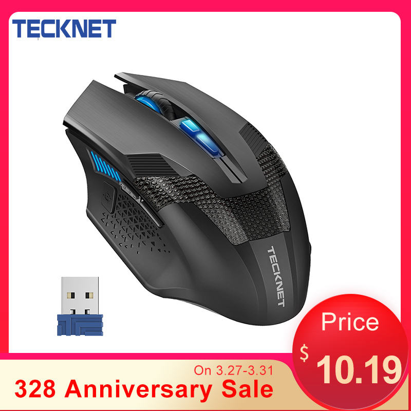 TeckNet 2.4GHz Wireless Mouse Optical Gaming Mouse Programmable Macro 4800DPI 8 Buttons Mouse Gamer Wireless Mice For PC Laptop