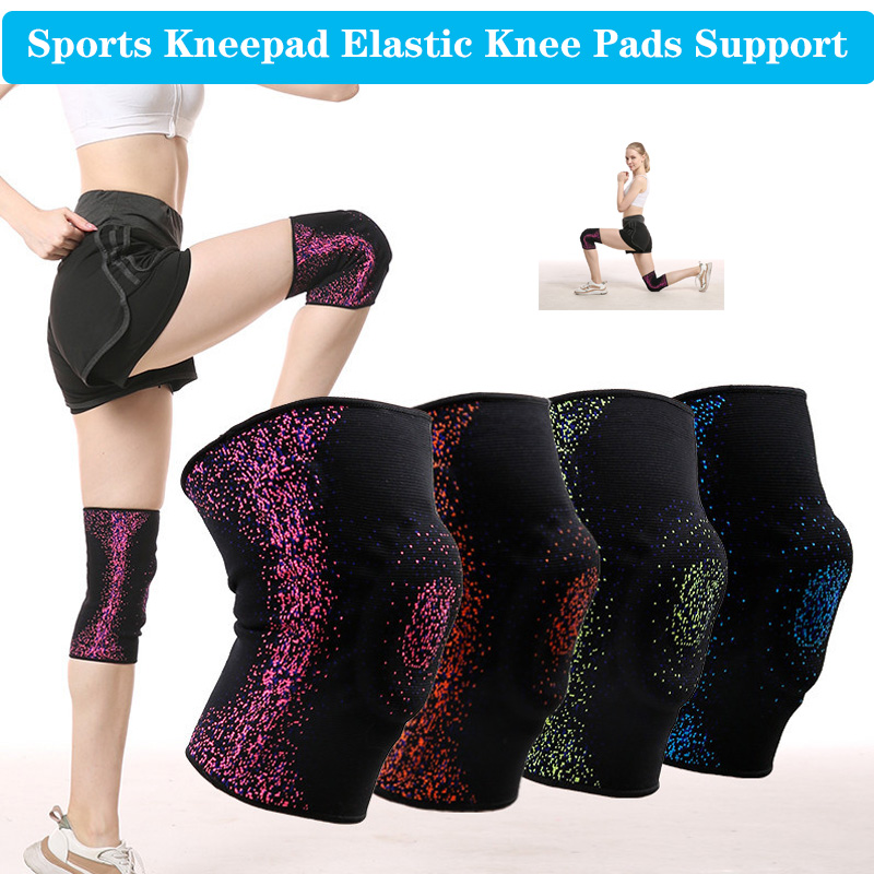Unisex Sport Kneepad Elastic Knee Pads Support Pressurized Strong Compression Gym Knees Protector Fitness Running Protection Pad
