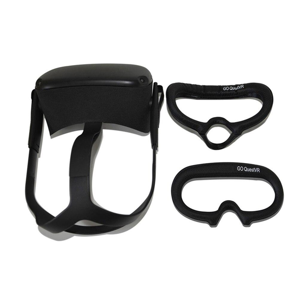 Sweatproof VR Glasses Eye Mask Cover For Oculus Quest VR Headset Breathable Sponge Face Pad Cover Protective Holder Case Set