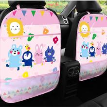 Baby Car Seat Back Protector Touch Type Multi-use Storage Pocket Kids Kick Mat Car Protectors Seat Baby Tidying Stowing Back