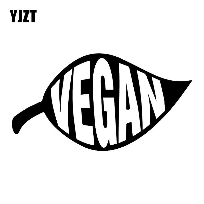 YJZT 16.7X9CM Vegan Leaf Vinyl Car Sticker Rear Windshield Decoration Vinyl Decals C25-1292