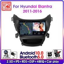 Autoradio Android 10, navigation GPS, écran partagé, fenêtre flottante, 2 din, lecteur multimédia pour voiture Hyundai Elantra Avante I35 (2011 – 2016)