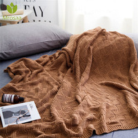 Hot 120x180cm Knitted Blanket Bed Banket Cotton Soft Blanket on the bed Sofa Cover Blanket Throw Blanket for Sofa Office Bedding