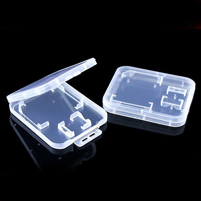DHL/EMS  500PCS Plastic Thick RS MMC TF Micro SD Memory Card Cases Box -A8