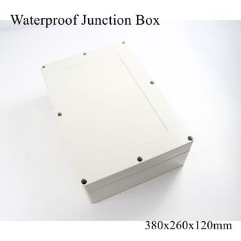 380x260x120mm Waterproof Plastic Enclosure Box Outdoor Cable Connection Junction Electrical Project Case ABS IP65 380*260*120mm