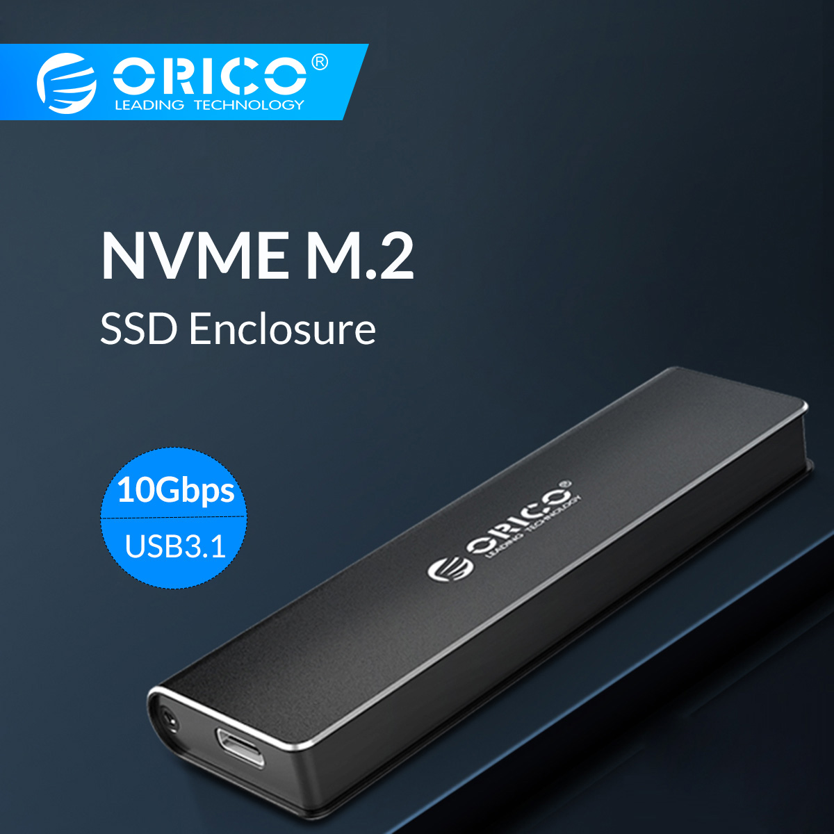 ORICO M.2 NVME SSD Enclosure Type C USB 3.1 Support 10Gbps UASP M.2 USB NVME SSD Case Aluminum Hard Drive Disk Box