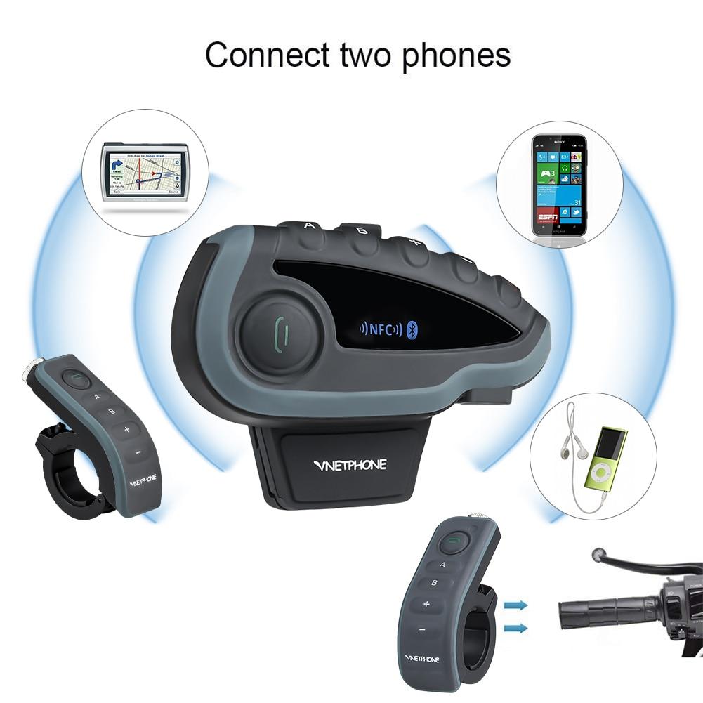 Hot V8 Motorcycle Helmet Intercom Helmet Headset For Headphones 5 Pilots BT Intercoms FM Radio NFC Remote Control
